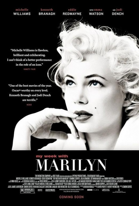 My Week with Marilyn (2011). Michelle Williams won a well-deserved Golden Globe for her performance as the iconic Marilyn Monroe.
