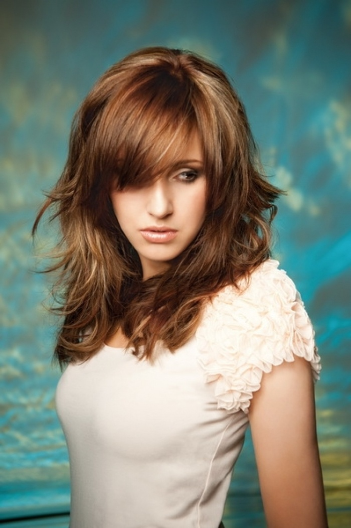 medium chunky layered haircuts 1000 ideas about layered bangs hairstyles on 4480 | 8536f662496246cc00a600cbbd26ec3c