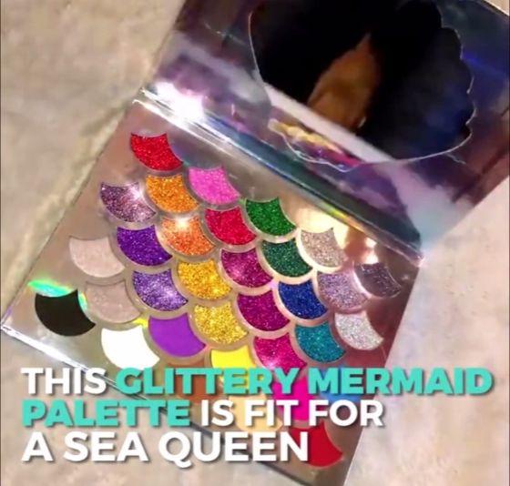 mermaid eyeshadow pallete sale share with mermiad lovers