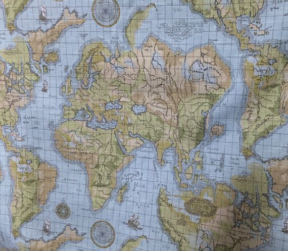 The Best Map Fabric Ideas On Pinterest Printable Maps - Paris map fabric