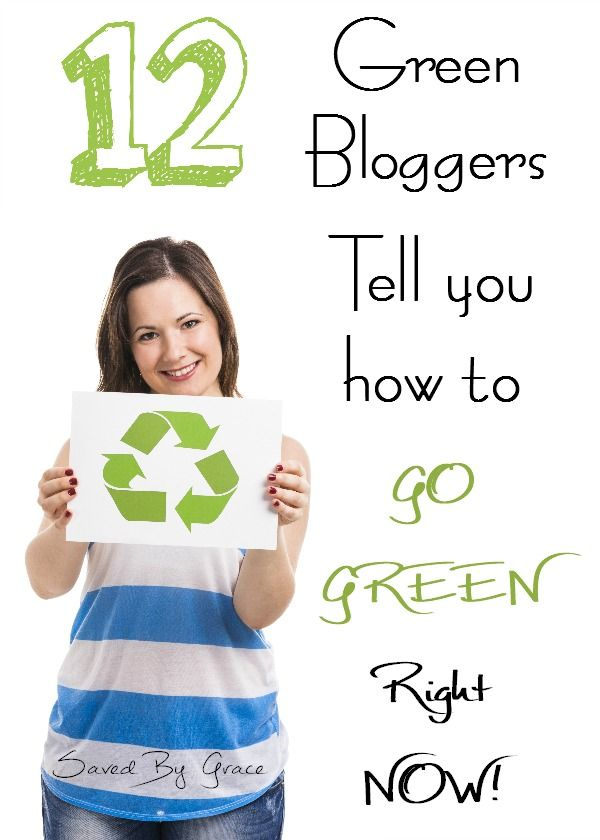 12 Top Green Bloggers Tell you How to Go Green RIGHT NOW!- tips on going green at home, how to go green in your daily routine, how to live more sustainable.