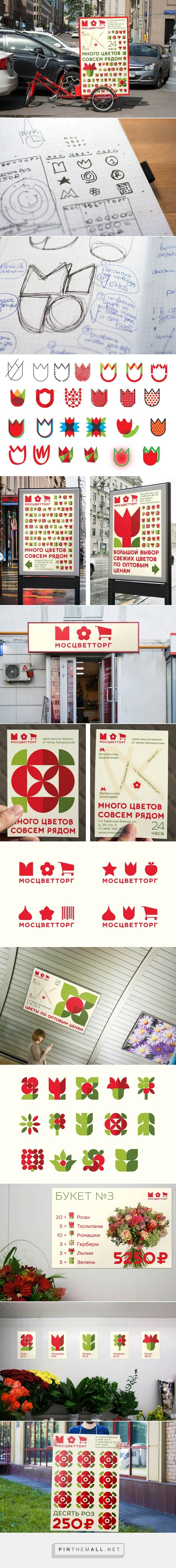 Moscvettorg is a market leading chain of 71 flower shops in Moscow | #visual #identity #design by @movingbrands via @ID_Designed