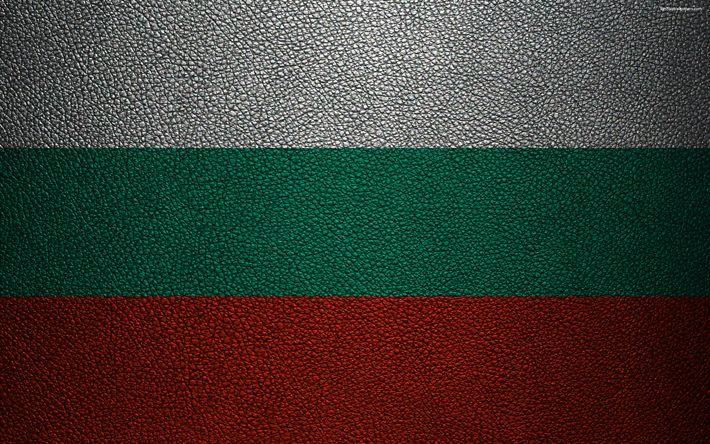 Download wallpapers Flag of Bulgaria, 4k, leather texture, Bulgarian flag, Europe, flags of Europe, Bulgaria