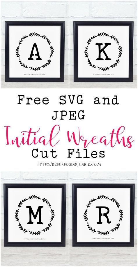 Download Free SVG and JPEG Initial Alphabet Wreath Cut Files ...