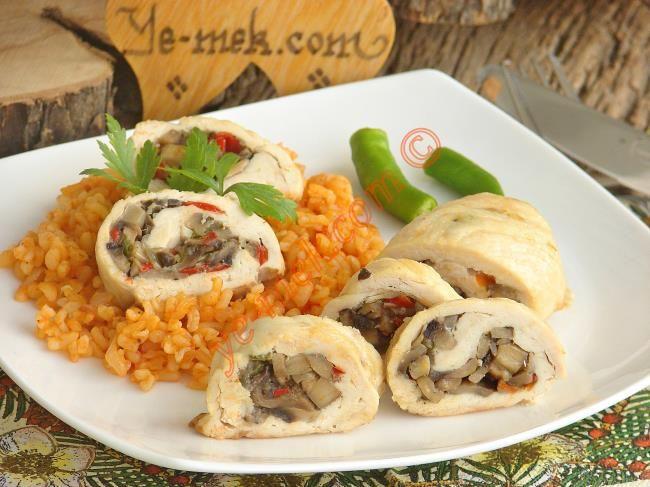 Mantarlı Tavuk Sarma Resimli Tarifi - Yemek Tarifleri