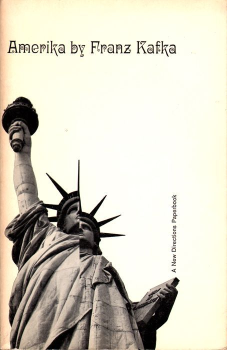 Amerika by Franz Kafka. New Directions, 1962. Cover by Gilda Kuhlman.