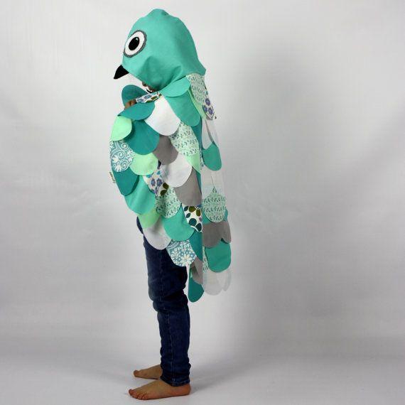 Aqua Owl Cape Kinder Kostüm Kostüm für von sparrowandbcostumery