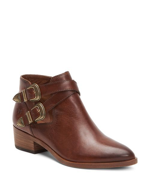 1420dcaf6b8 Frye - Women's Ray Almond Toe Leather Western Booties