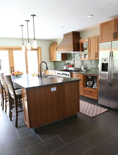 Best 15 Slate Floor Tile Kitchen Ideas Final Home Selection Pinterest Tiles And Flooring