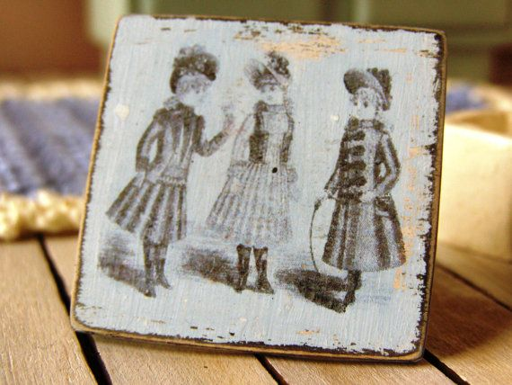 Dollhouse miniature picture dollhouse sign shabby by DewdropMinis