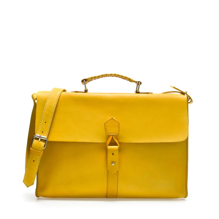 Zara Men's Soft Briefcase In Yellow. #bGstyle Click here to subscribe: www.babyGent.com