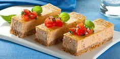 (Cheese cake) Sformato di Robiola Osella con pomodoro capperi e olive