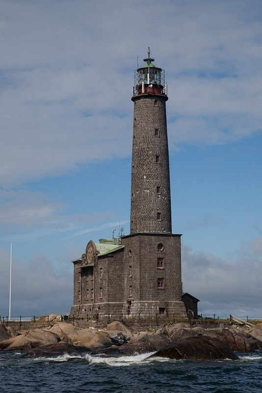 the lighthouse on the island of Bengskär, Finland