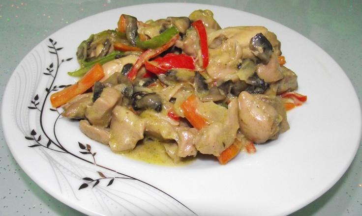 köri soslu kremalı mantarlı tavukk