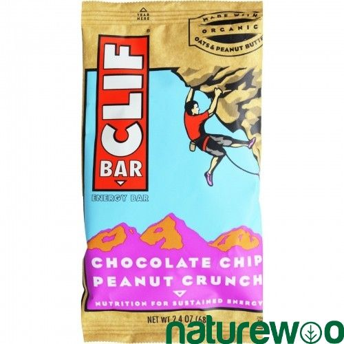 Clif Bar - 554865 - - Organic Chocolate Chip Peanut Butter Crunch - Case of 12 - 2.4 oz