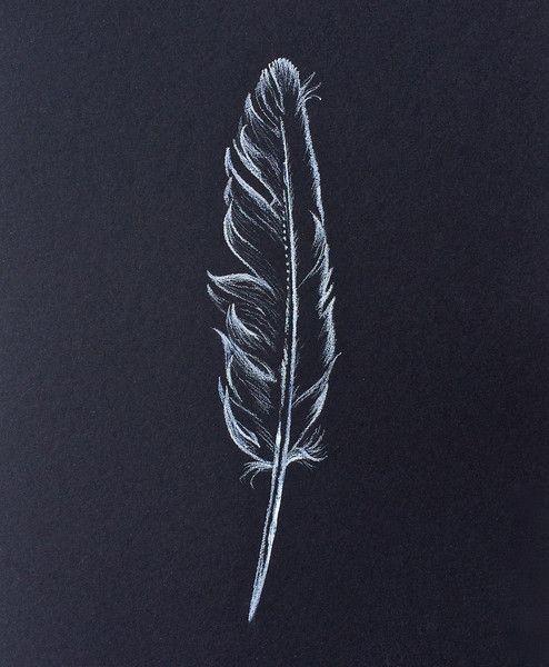 """Original Zeichnung """"Feder"""" von Arteck auf DaWanda.com"""