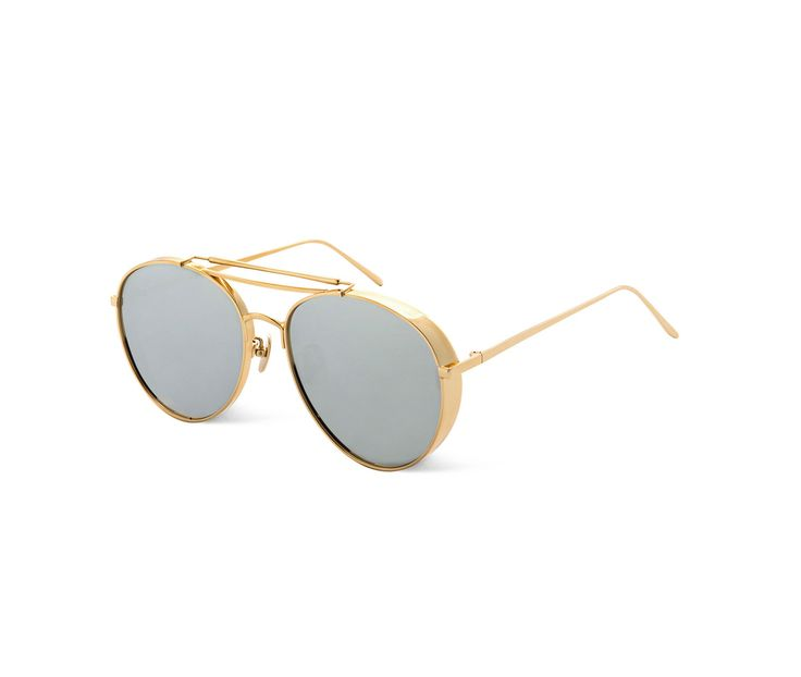 GENTLE MONSTER - BIG BULLY 03(1M) - aviator gold metal sunglasses.