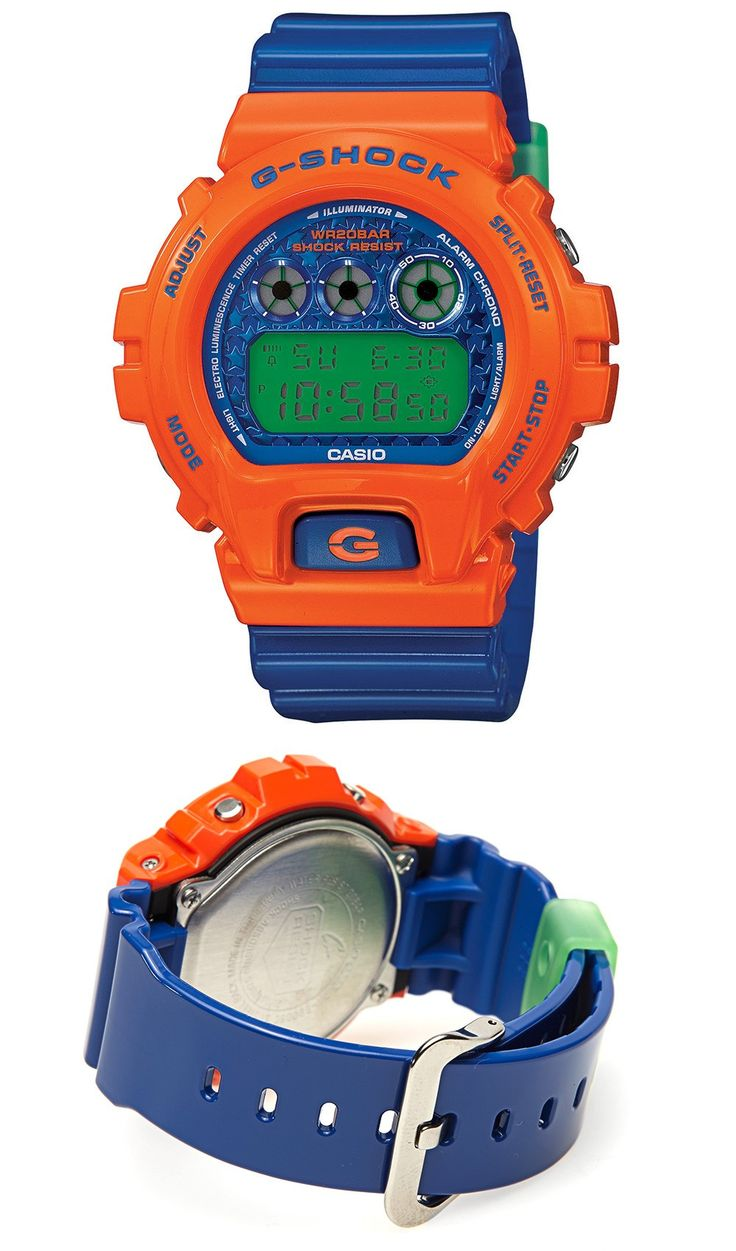Like to add a bit of colour to your look? Then the Casio G-Shock DW-6900SC-4ER could be perfect for you with its bright orange, green and blue design! As with all G-Shock watches, it's also packed with features and designed to take life's knocks with shock resistance and 200m water resistance. RRP £100 Our Price £65