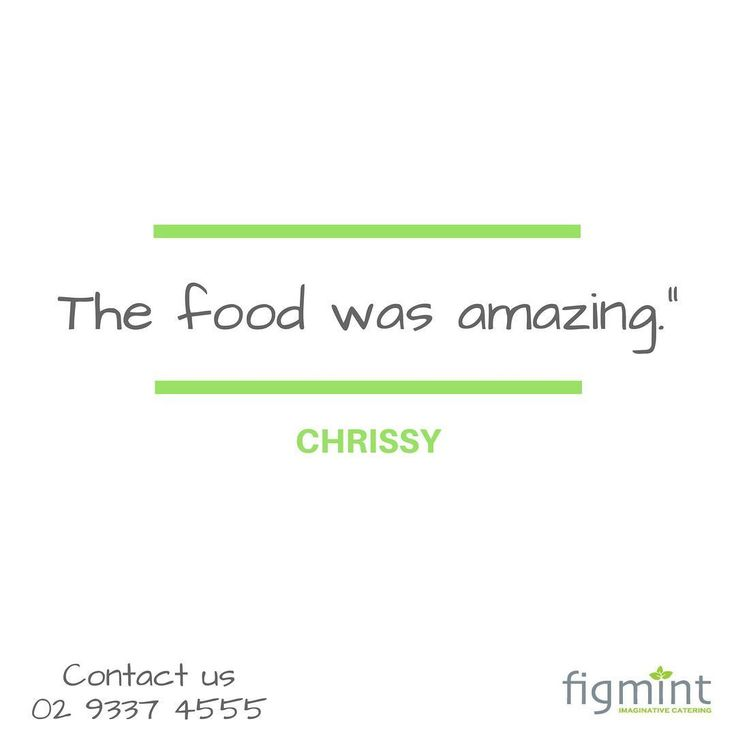 """Hi Julie. Thank you for doing a wonderful job on Saturday the food was amazing."" - Chrissy  Figmint Catering can create exceptional celebrations for your special occasions. Call us at 02 9337 4555 today. #figmintcatering #sydneycaterer #thehighheeledhostess"