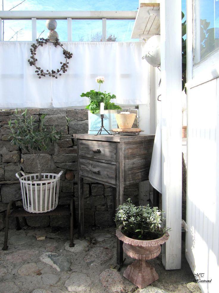 Inside Gazebo. Outside Patio Garden Whitewashed Cottage ...