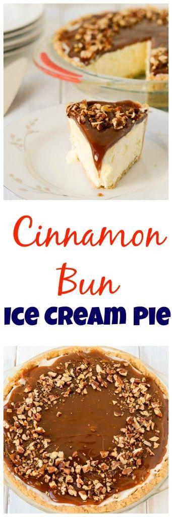 frosty, creamy ice cream pie full of cinnamon bun goodness.