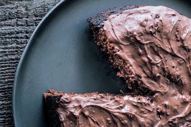 Dark chocolate, date and beetroot cake. This is a very moist, almost fudgy chocolate cake. The dark chocolate, earthy beetroot and dark caramel notes from the dates result in a rich flavoured cake that is not overly sweet.