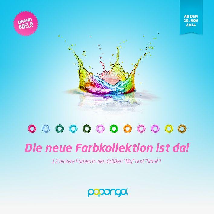Die neue #Papanga #Farbkollektion ist da! Pünktlich zur dunklen Jahreszeit erhellen wir mit 12 neuen und intensiven #Farben das graue Herbstwetter. Wie gewohnt natürlich in den Größen #Big und #Small. Viel Spaß beim Stöbern und Shoppen auf www.papanga.de! #Haargummis #Spiralhaargummis #NeueFarben