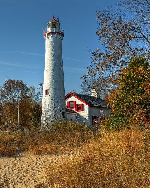 Lake Huron: Sturgeon Point Lighthouse in Michigan.