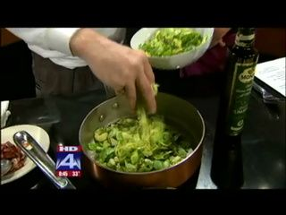 Del Frisco's Sauted Brussel Sprouts w/ Bacon & Onion