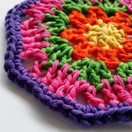 Octagon Motif Free Crochet Pattern