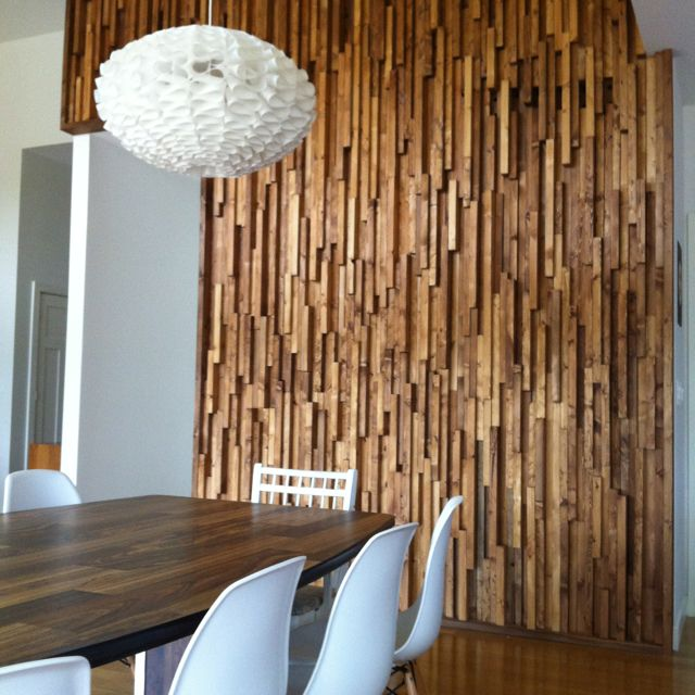 <3 our wood wall!