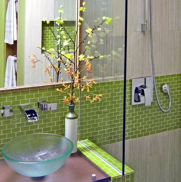 I Like This Glass Tile For Possibly Around The Bathtub Shower Hall Bath Ideas Pinterest