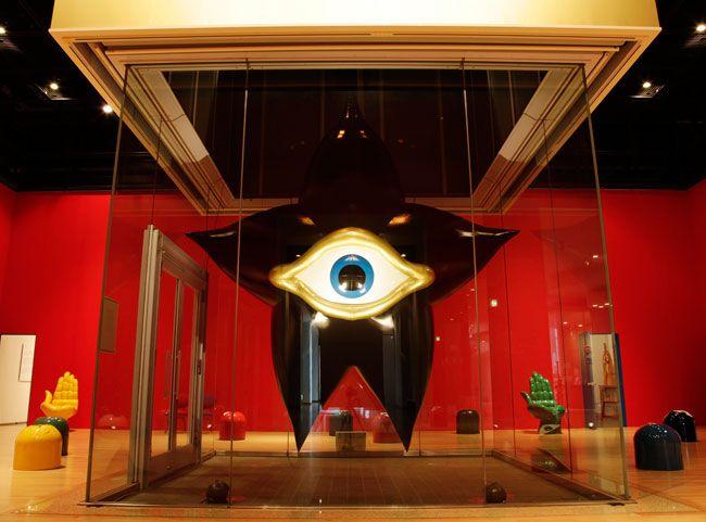 Alien named PAIRA, 1956 by Taro Okamoto. Surrealism. sculpture