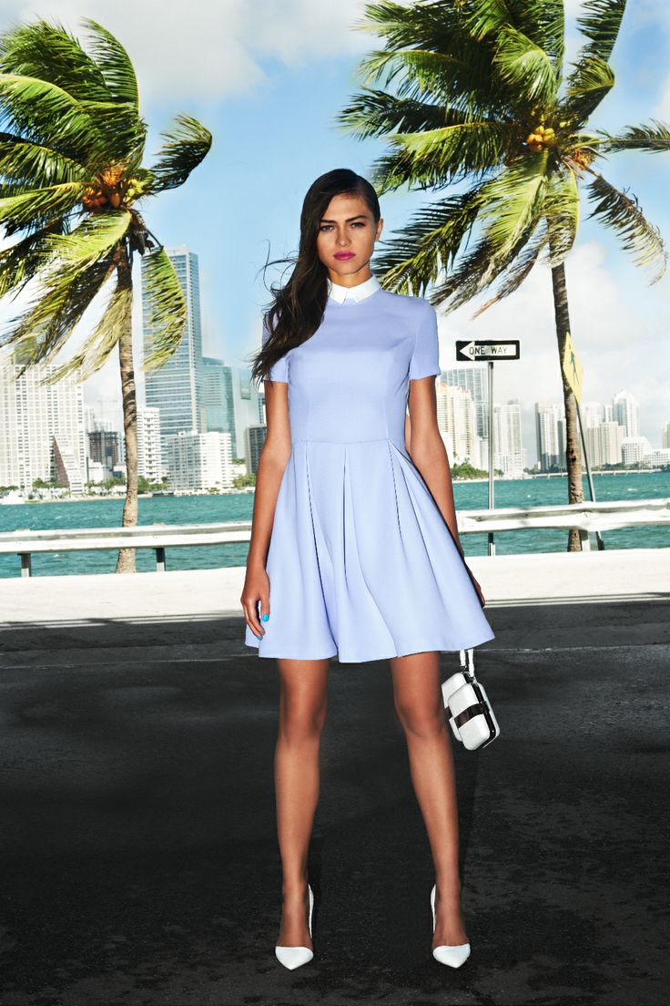 #dress #white #clutch #miami