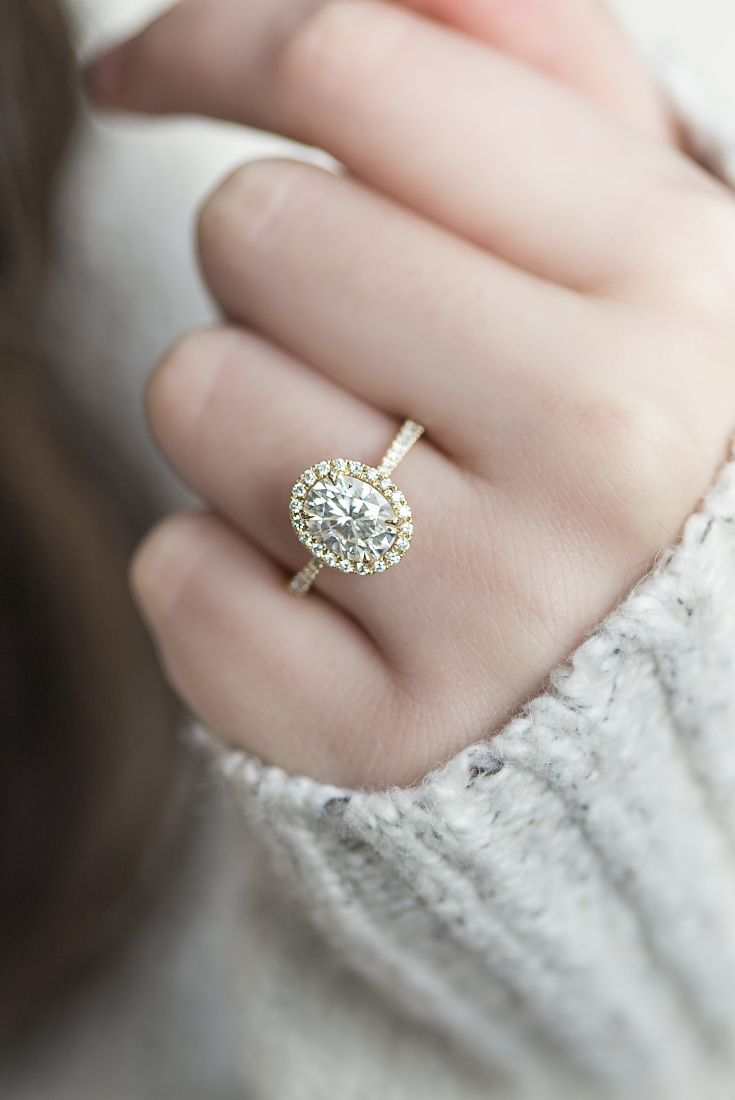 Verity Oval Halo Engagement Ringpretty