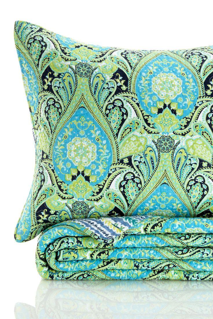 New Paisley 3 Piece Quilt Set - Aqua on HauteLook
