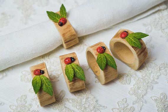 15 set Birch Napkin rings Wedding table decor Wood Rustic Napkin rings Leaves Rustic bridal shower table decoration greenery napkin rings