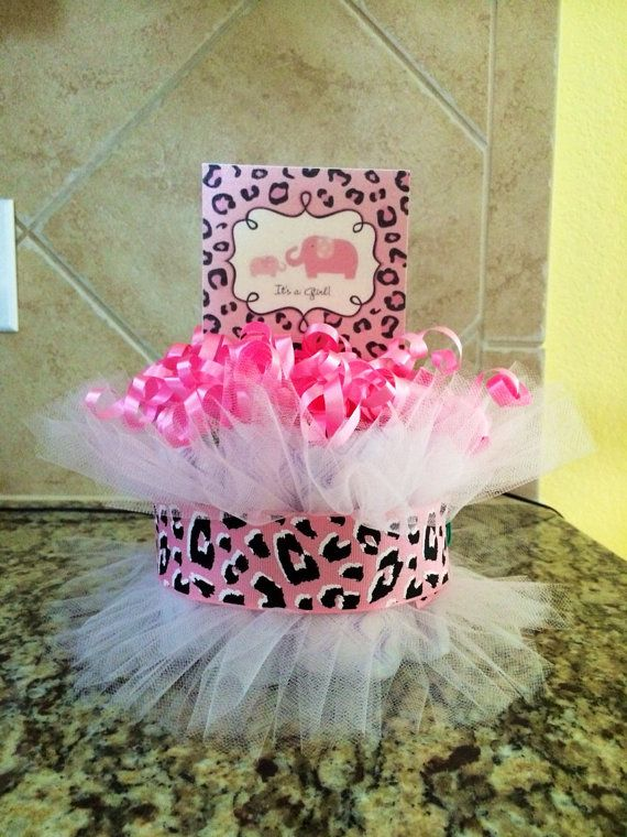 Captivating Items Similar To Pink Cheetah Print Diaper Cake Baby Shower Centerpiece    Itu0027s A Girl!
