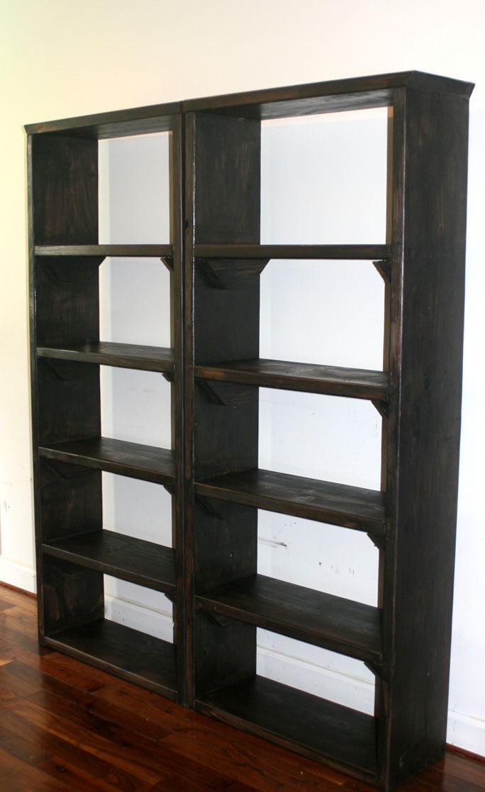 Pair of 30 bookshelves Rustic Bookshelf, book cases, storage towers.  $429.00, via