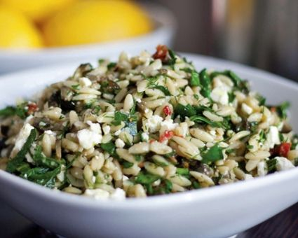 Greek-Style Orzo Salad Recipe