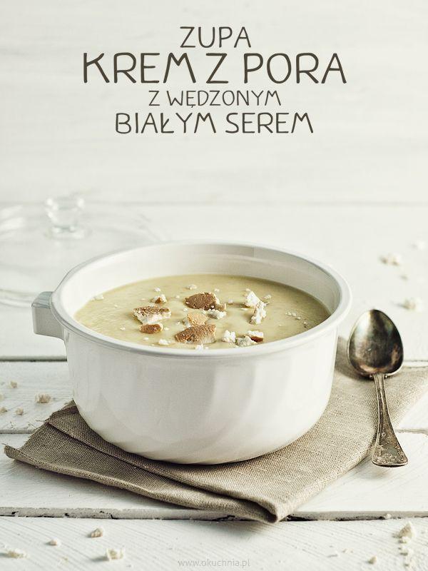 Zupa krem z pora z wędzonym białym serem
