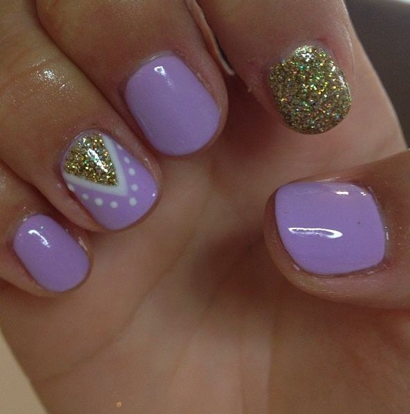 Purple Nail Design Idea