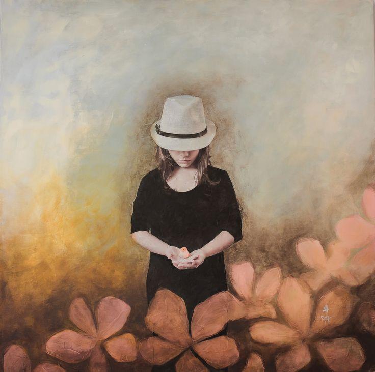 Hanna mixed media/canvas 60/60 cm 2017