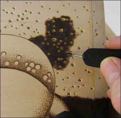 Sue Walters Pyrography negative pyro techniques