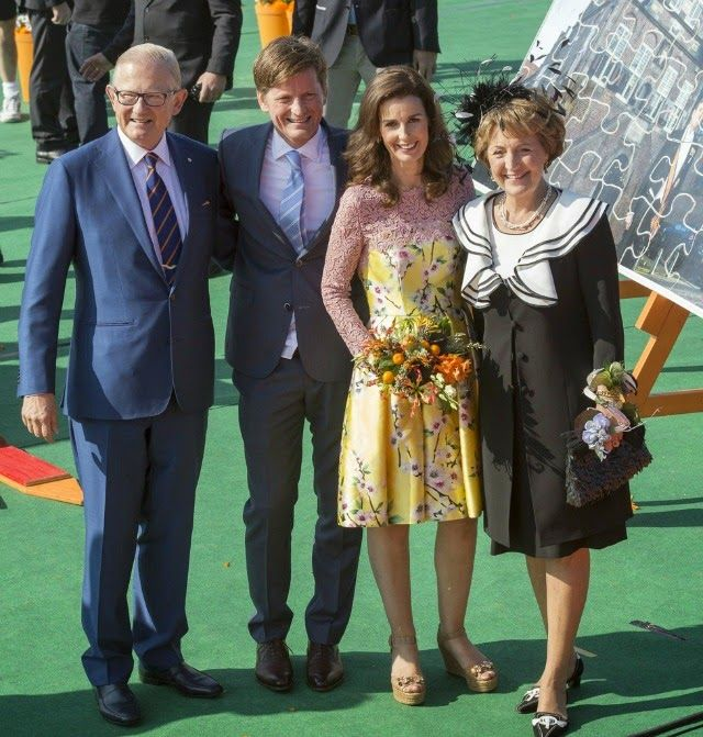 Kingsday 2014 Members of the Dutch Royal Family celebrate  King's Day in De Rijp and Amstelveen