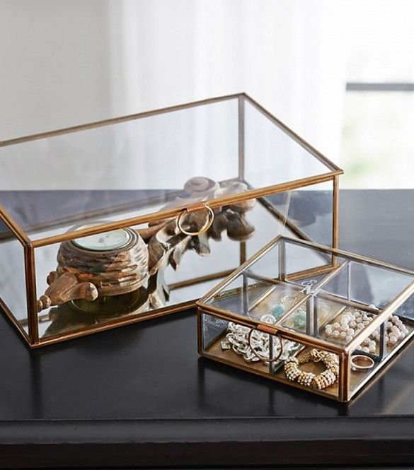 """Spotted! Our 'Callie Glass Boxes' in MyDomaine's list of """"7 Jewelry Trays That Will Transform Your Dresser""""..."""