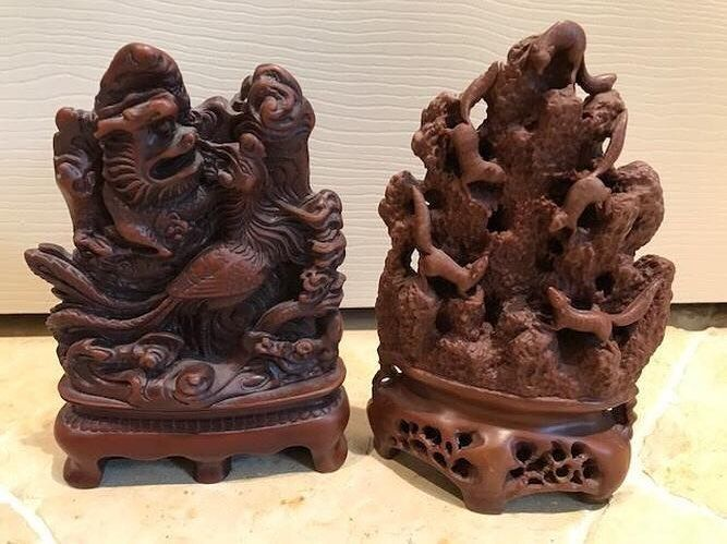PAIR OF ASIAN BOOKENDS Lots of detail Deep Chinese rust red color Excellent Condition Shop: http://ift.tt/2ssMZl2 . . . . . #bookends #chinese #resin #rust #home #homedecor #interiors #interior #interiordesign #homeaccessories #onlineshopping #interiordecor #instadecor #textiles #interiordecorating #instahome #homestyle #color #inspiration #textures #furnishings #houston #houheights #whileitlasts