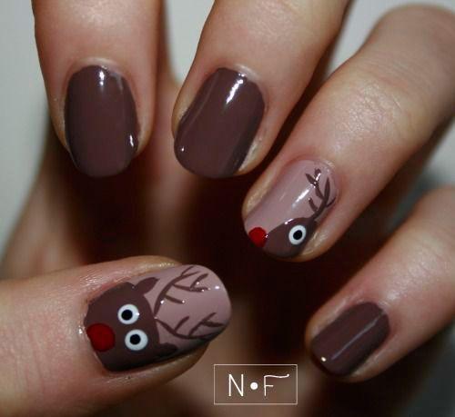 50 best reindeer nail art designs images on pinterest christmas cool reindeer nail art designs prinsesfo Images