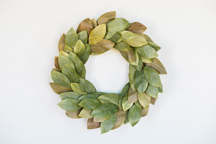 Signature Magnolia Wreath -- I want 2 of these but I dont want to pay the price !!! $95 a piece. Seriously! Oy Vey!