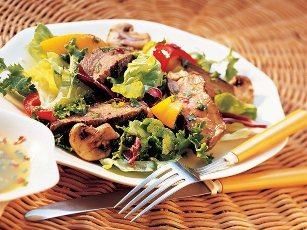 Beef up your grilled dinner options with a meaty salad.  You'll find a feast for the eyes and the satisfaction of a flavorful meal.